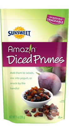 Sunsweet Diced Prunes 7 oz (Pack of 4)