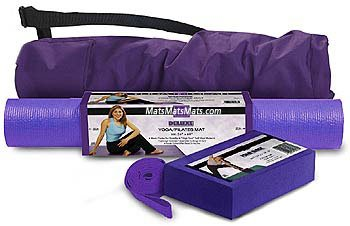 Complete Set-Deluxe Mat,Block,Canvas Bag, 6' Strap(Loop), Purple