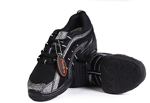 Yao Shoes Dance Spring Women Breath Boots Sneakers Summer Salsa Ballroom Sports Dance Modern Jazz Black for rgTxprq4w