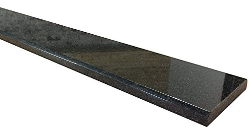Absolute Black Italian Granite Threshold - Size 30 x 5 inch - Polished by Absolute Black Granite Threshold