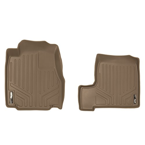 SMARTLINER Floor Mats 1st Row Liner Set Tan for 2007-2011 Honda CR-V 2007 Tan 1st Row