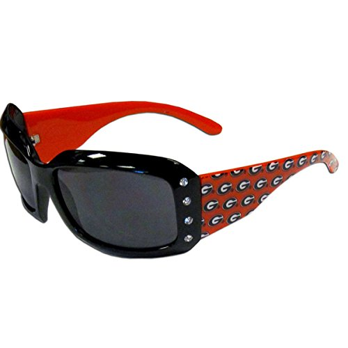 NCAA Georgia Bulldogs Women's Rhinestone Designer Sunglasses