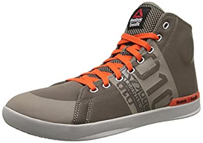 Reebok Men's Crossfit Lite TR Training Shoe, Trek Grey/Flux Orange/Steel, 8.5 M US