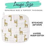 BabyBliss Premium 6-Layers Muslin Baby Washcloths
