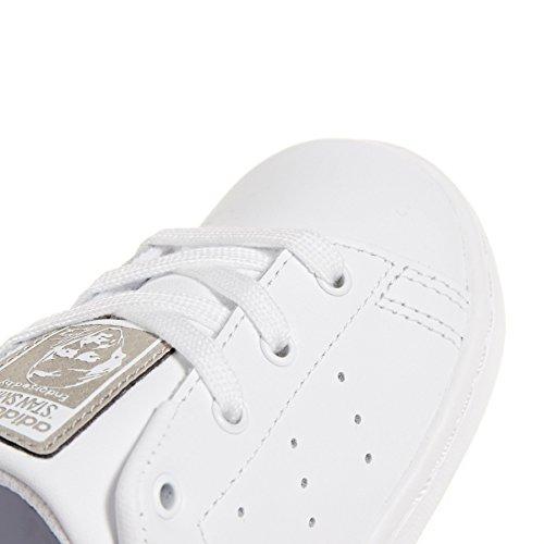 adidas Unisex-Kinder Stan Smith I Fitnessschuhe weiß (Ftwbla / Ftwbla / Ftwbla 000)