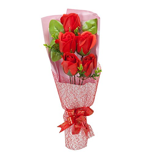 I Love You Red Flower Bouquet Scented Soap Roses Women Girls Mother's Sister Anniversary Birthday Gifts sf501b