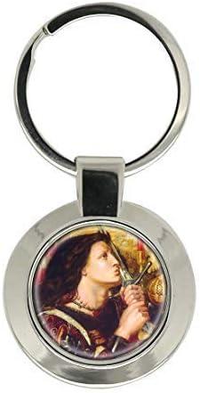 UK Giftshop St.Jeanne DArc par Rossetti Chrome Porte Cl/é