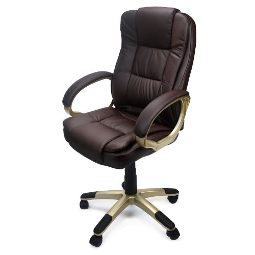 Amazon.com: XtremepowerUS PU Leather Executive Office Desk Task Computer  Boss Executive Luxury Chair Seat (Black): Home U0026 Kitchen