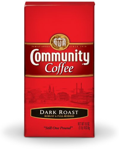 Community Coffee Ground Coffee, Dark Roast, 16-Ounce Bags (Pack of 10) by Community Coffee