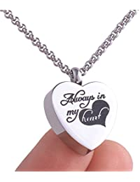 Michley Always in My Heart Urn Locket Jewelry Memorial...
