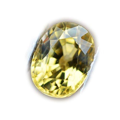 Lovemom 1.39ct Natural Oval Normal Heated Yellow Sapphire Sri-Lanka ()