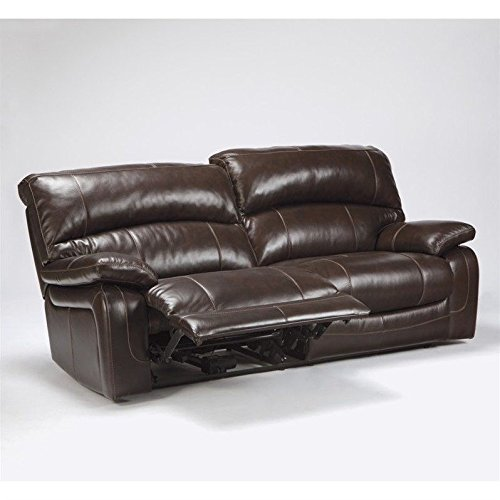 Signature Design by Ashley U9820047 Damacio Collection Power Reclining Sofa, Dark Brown