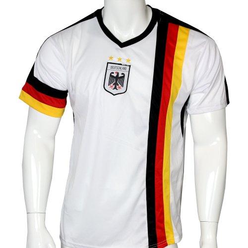 DEUTSCHLAND WM 2014, Trikot weiß mit Mesh-Einsätzen, UNISEX, Gr. S