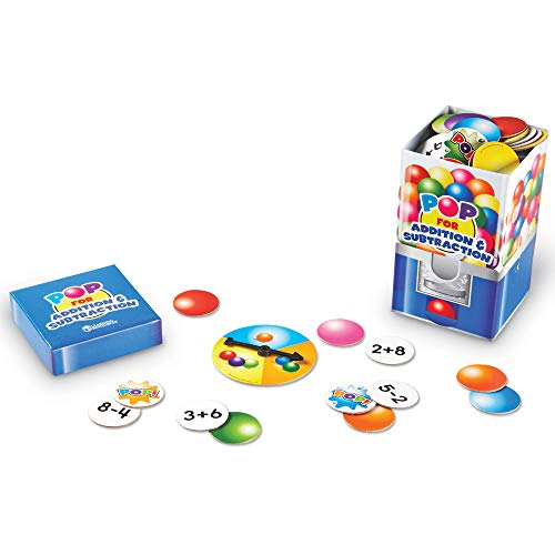 Learning Resources Pop For Addition & Subtraction Math Game, 100 Pieces, Grades 1+/Ages 6+