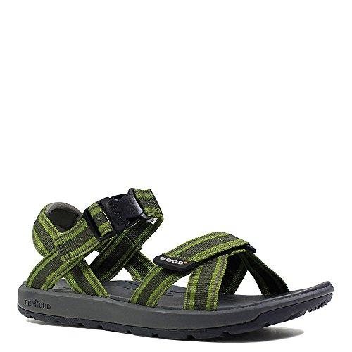Bogs Herren Rio Stripes Athletic Sandale Dunkelgrünes Multi