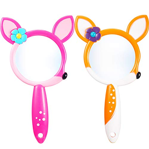 Yaomiao 2 Pieces Magnifying Glass 3X Magnifier for Children for Reading Books, Insects, Maps, Crossword Puzzles