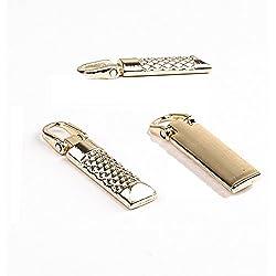 20pcs Gold Plated Metal Slide Zipper Pull Puller Tab Repair Fastener Replacement Kits IA425