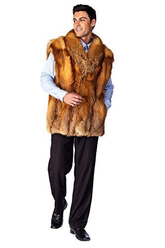 Madison Avenue Mall Mens Red Fox Vest- Red Fox - Size - Mall Madison