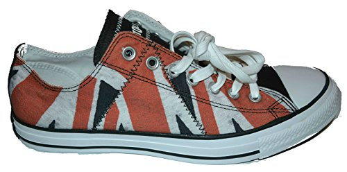 Omgekeerde Sex Pistols Chuck Taylor Distressed Uk Flag Oxford Lo Sneakers White