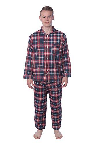 (James Fiallo Mens Pajamas Set,Shirt & Matching PJ Pants,100% Cotton, Comfortable, Non Sweating, All Seasons, Winter, Spring, Fall, Summer.)