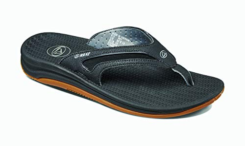 REEF Men's Sandals   Flex, Black/Silver, 12