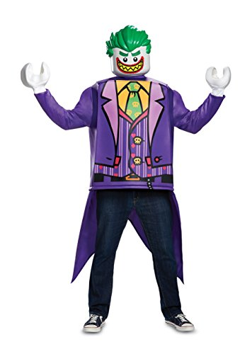 Disguise Men's Joker Classic Adult Costume, Purple, One Size