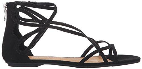 Chinese Laundry Kvinners Krone Gladiator Sandal Svart Semsket Skinn