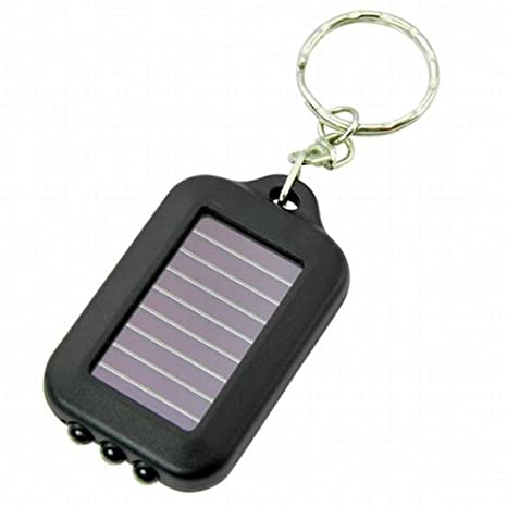 Sonline Llavero Recargable con Panel Placa Solar con Linterna - 3 LED