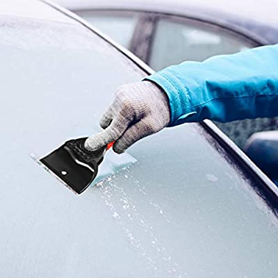 Mudder 3 Pieces Ice Scraper Car Snow Scraper Frost and Snow Removal Tool for Car and Small Trucks Windshield and Window: Automotive