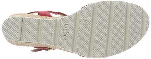 Gabor con Sandali Rosso Donna alla Cinturino Basic Caviglia rq7EOwr