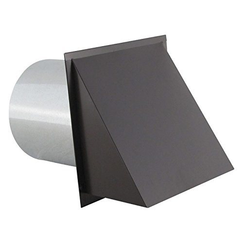 8 Wall Vent - Hooded Wall Vent with Screen and Damper - Painted 8 inch White