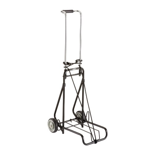 Discover Bargain Safco Products Steel Luggage Cart, 175 lb Capacity, Black, 4057NC