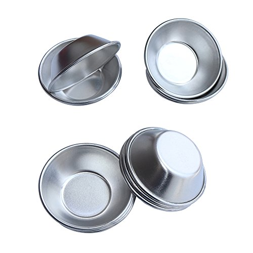 Egg Tart Molds - 12 PCS AQQAS Small Pie Muffin Cupcake Pans Tins Round Non-Stick Baking Cups Bakeware for Cake Cookie Cheesecake Pudding Aluminum