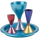 Multicolor Anodized Aluminum Havdalah Set