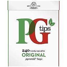 PG Tips Bolsitas de té originales de la pirámide (paquete de 240)