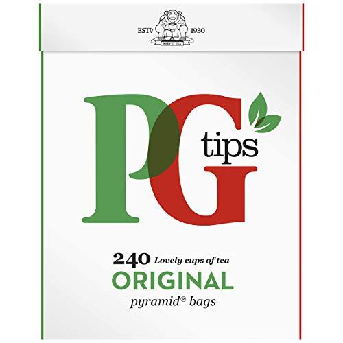 PG Tips Bolsitas de te originales de la piramide (paquete de 240)
