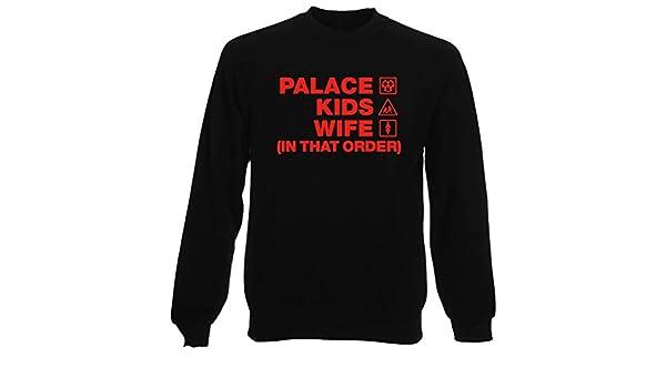 T-Shirtshock Sudadera por Hombre Negro WC1447 Palace Kids Wife Order: Amazon.es: Ropa y accesorios