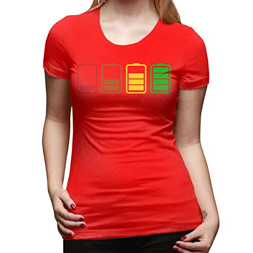 Gustave Dulles Batteries Women's Short Sleeve T Shirt Color Red Size 31 ()