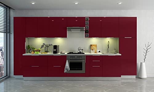 Altro Berlioz Creations Mobiletto da cucina con anta Rosso altamente brillante 60 x 52