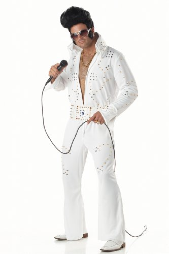California Costume s Men's Rock Legend,White,Large Costume