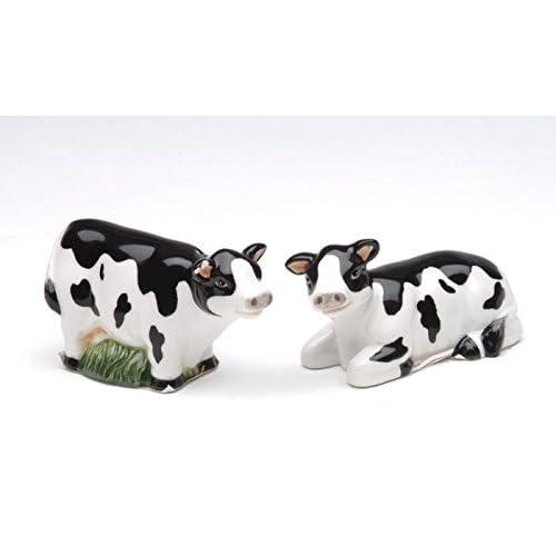 1.5 Inch Black and White Mini Cows Salt and Pepper Set
