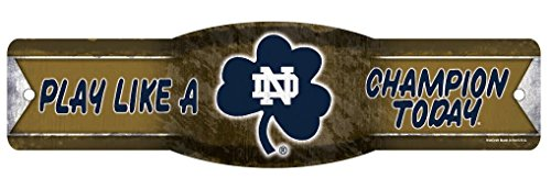 notre dame play like a champion today poster