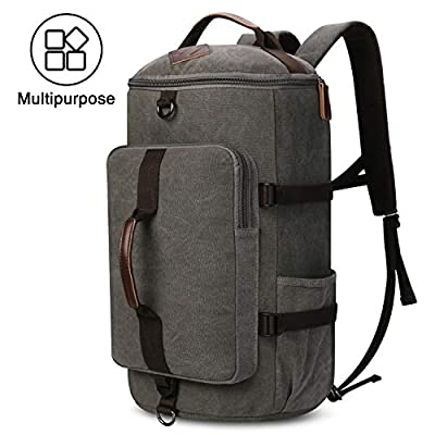 Men's Canvas Backpack Travel Duffel Backpack Bag Large School Bookbag 3-In-1