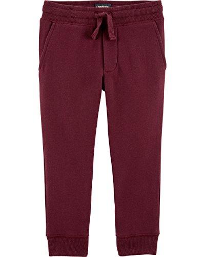 Oshkosh Fleece Shorts - OshKosh B'Gosh Boys' Classic Fit Logo Fleece Pants, Burgundy, 5T