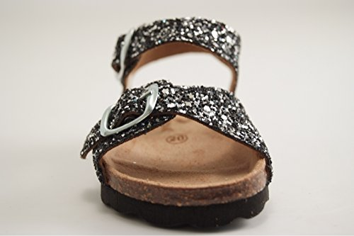 Sandale Charles Noir Reqins IX Glitter ETI Oasis Noir 1Cxtqpw