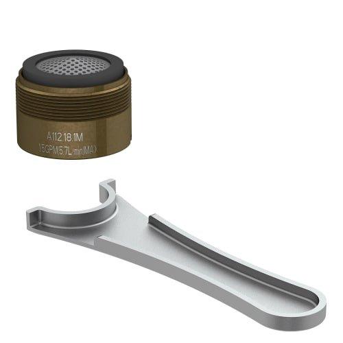 Danze DA613073NBR Junior Male Faucet Aerator Kit with Laminar Flow Pattern, 1.5 GPM, Tumbled Bronze