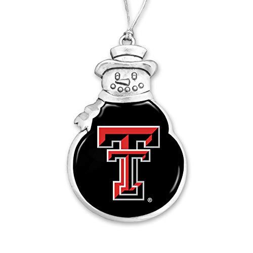 FTH 57470 Texas Tech Red Raiders Snowman Christmas Ornament