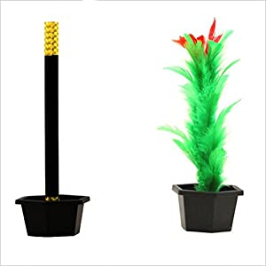 Dengguoli 1x Comedy Magic Wand To Flower Appearing with Pot Magic Trick Kid Show Prop Prank Toys for Kid Gift