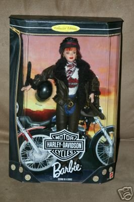 Harley Davidson Collectible Doll (1998 Barbie Collector Edition : Harley Davidson Motor Cycles Red Head Barbie second in a series)