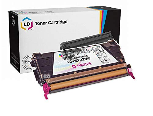 LD Remanufactured Toner Cartridge Replacement for Lexmark C5222MS (Magenta)